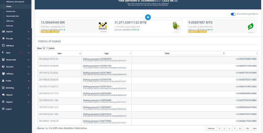 Simple Pos Pool hosting Masternode zrzuty ekranu (10)