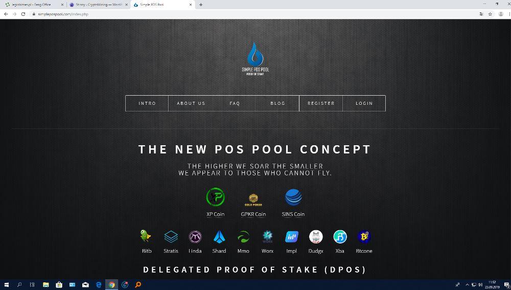 Simple Pos Pool hosting Masternode zrzuty ekranu (2)