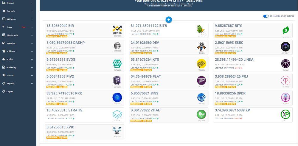 Simple Pos Pool hosting Masternode zrzuty ekranu (5)