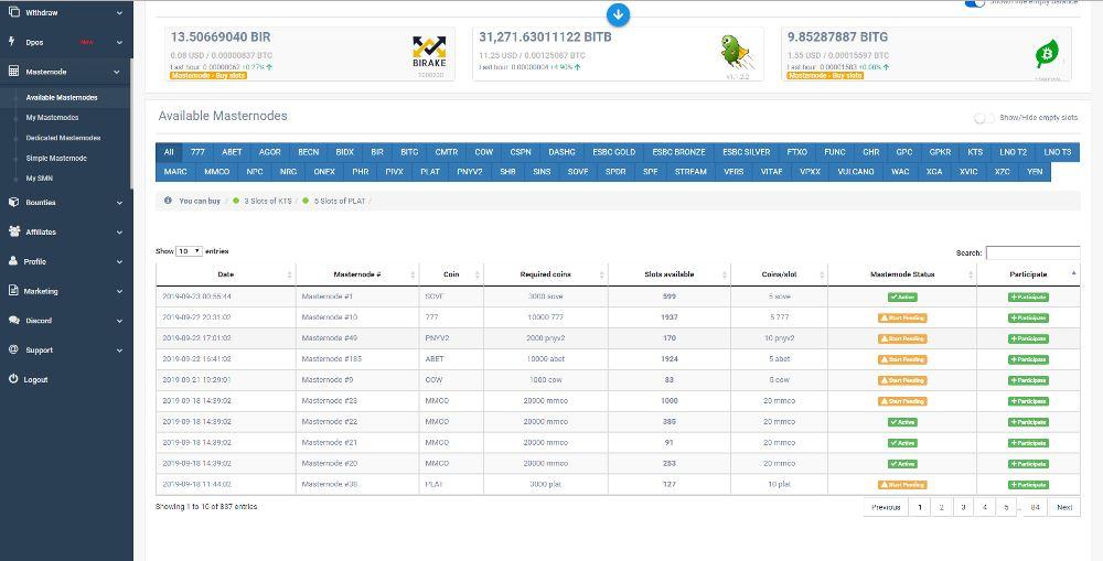 Simple Pos Pool hosting Masternode zrzuty ekranu (7)