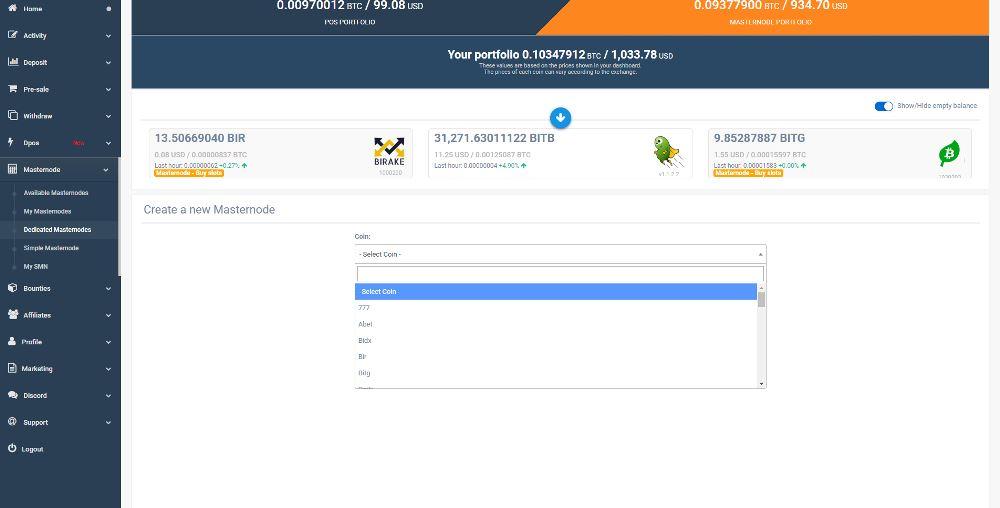 Simple Pos Pool hosting Masternode zrzuty ekranu (8)