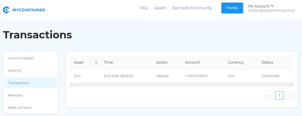 MyCointainer hosting Pos i Masternode (11)