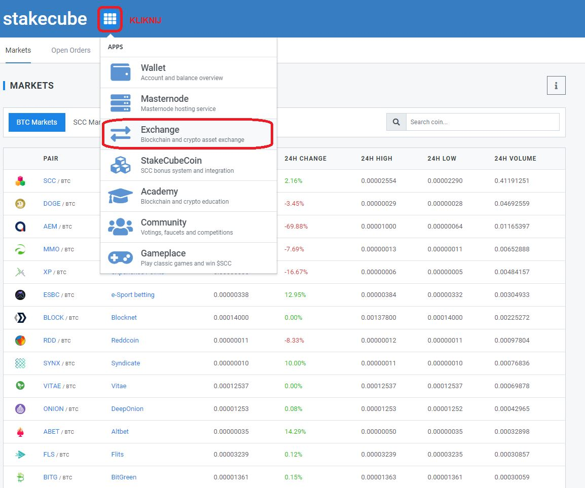 StakeCube Exchange 1