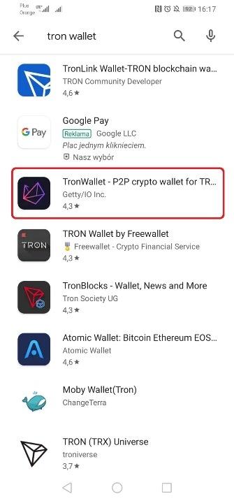 Tron wallet portfel 1