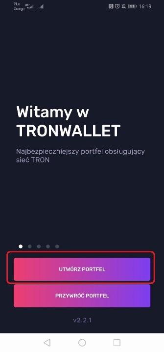 Tron wallet portfel 6