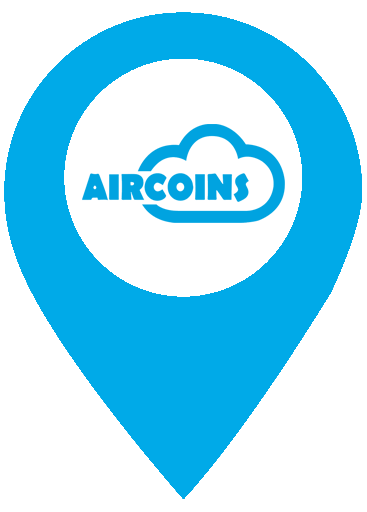 Blue-pin-Map Aircoins Experience