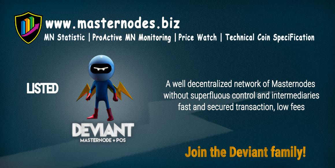 Deviant Coin masternodes.biz