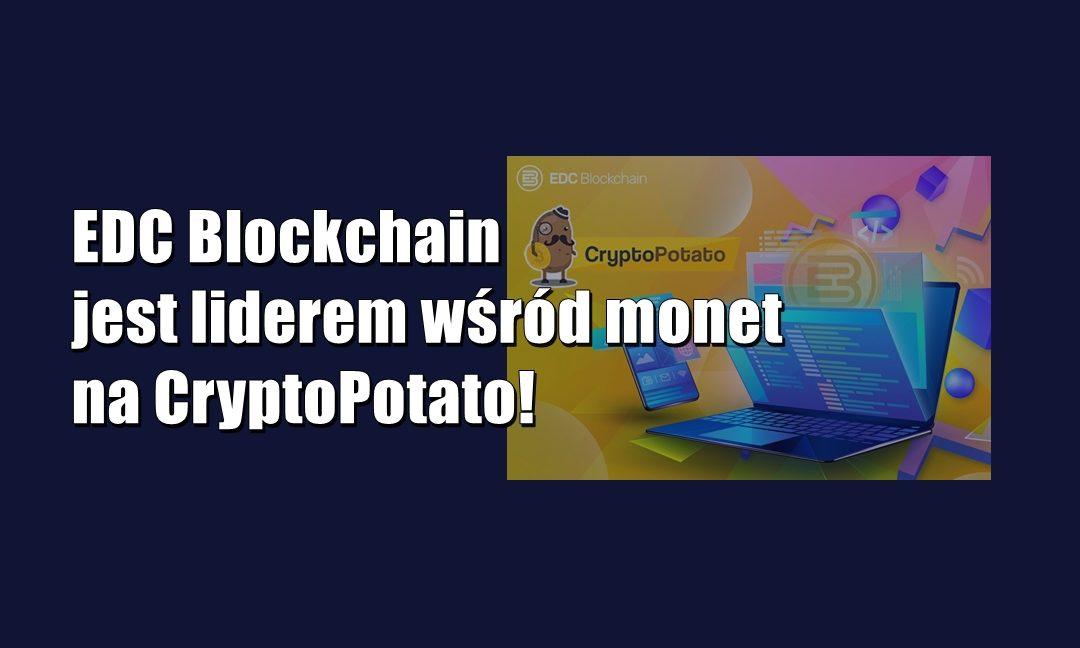 EDC Blockchain jest liderem wśród monet na CryptoPotato!
