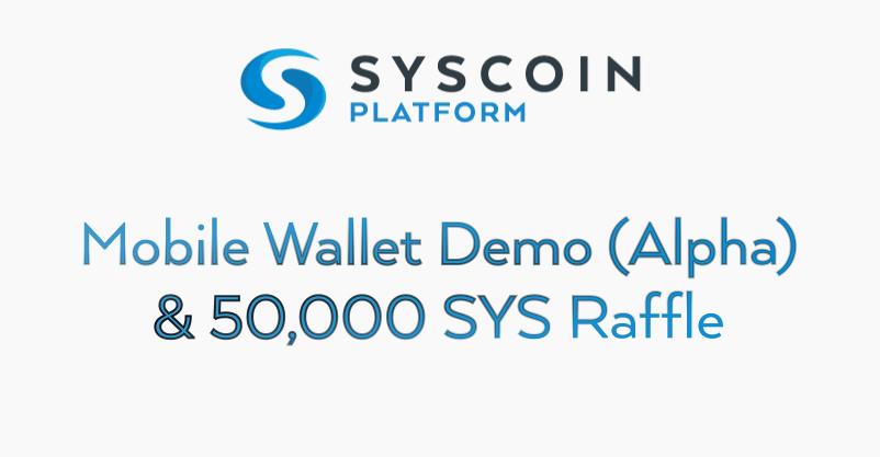 Syscoin Mobile Wallet Raffle