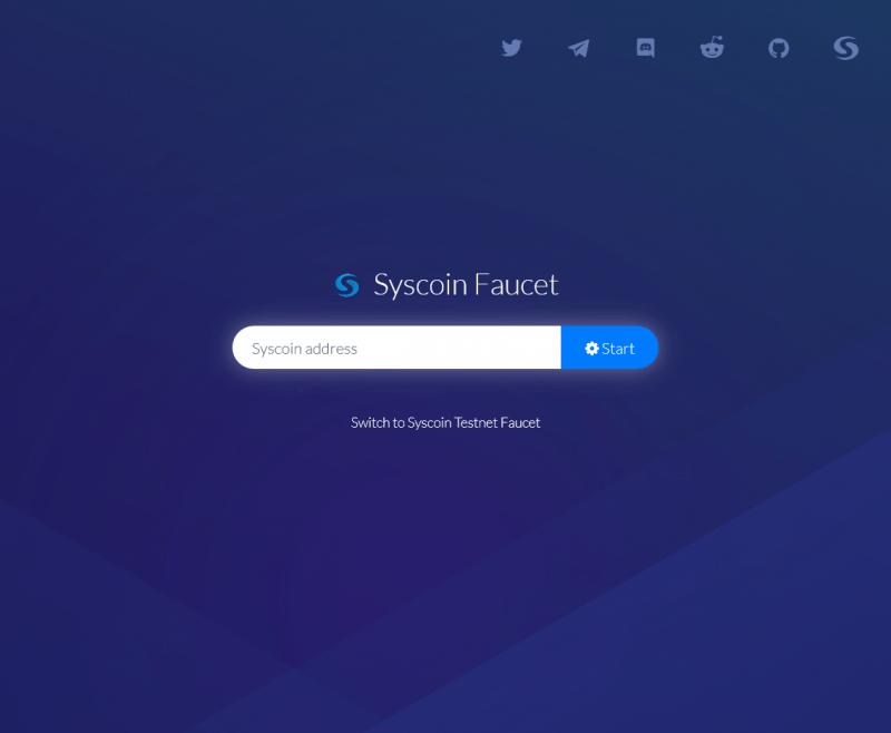 faucet SYSCOIN