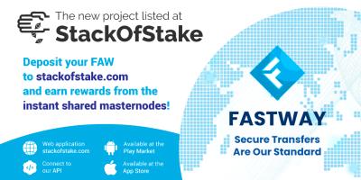FastWay (FAW) został wymieniony na platformie StackOfStake