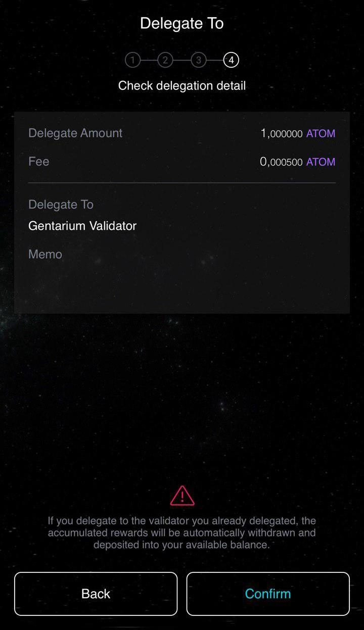 Korzystanie z mobilnego portfela Cosmostation z Gentarium 11