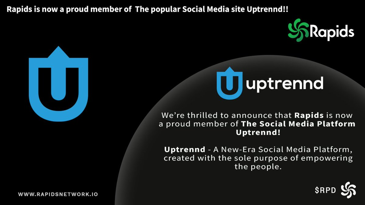 sieć Rapids nawiązała współpracę z platformą mediów społecznościowych Uptrennd