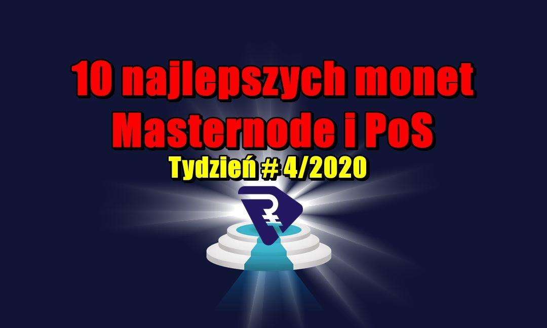 10 najlepszych monet Masternode i PoS - Tydzień # 4/2020