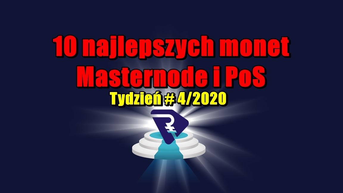10 najlepszych monet Masternode i PoS – Tydzień # 4/2020