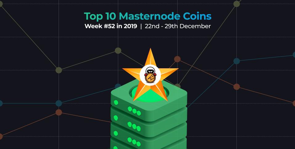 10 najlepszych monet Masternode - tydzień nr 52