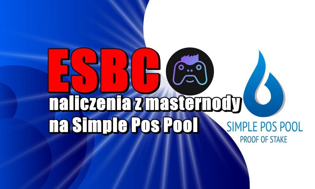 ESBC - naliczenia z masternody na Simple Pos Pool