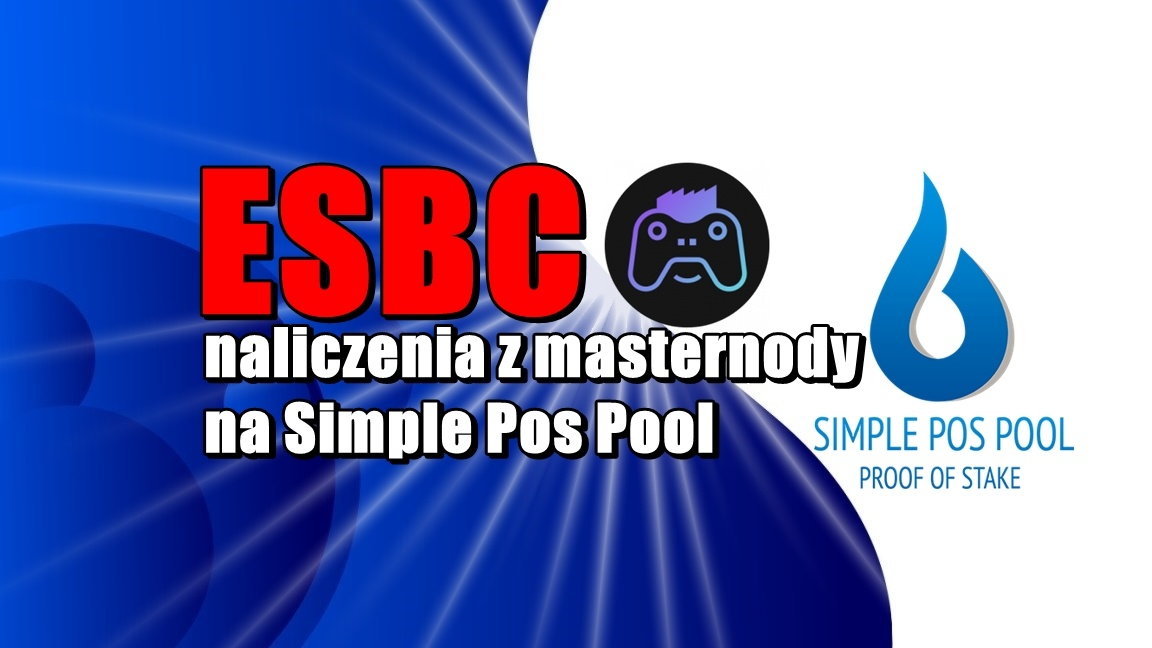 ESBC – naliczenia z masternody na Simple Pos Pool