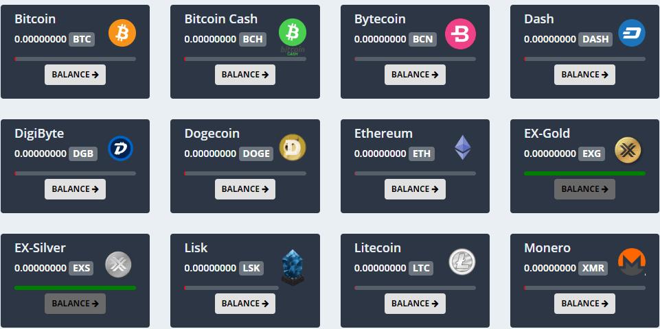 Express crypto niektóre z dostępnych kryptowalut