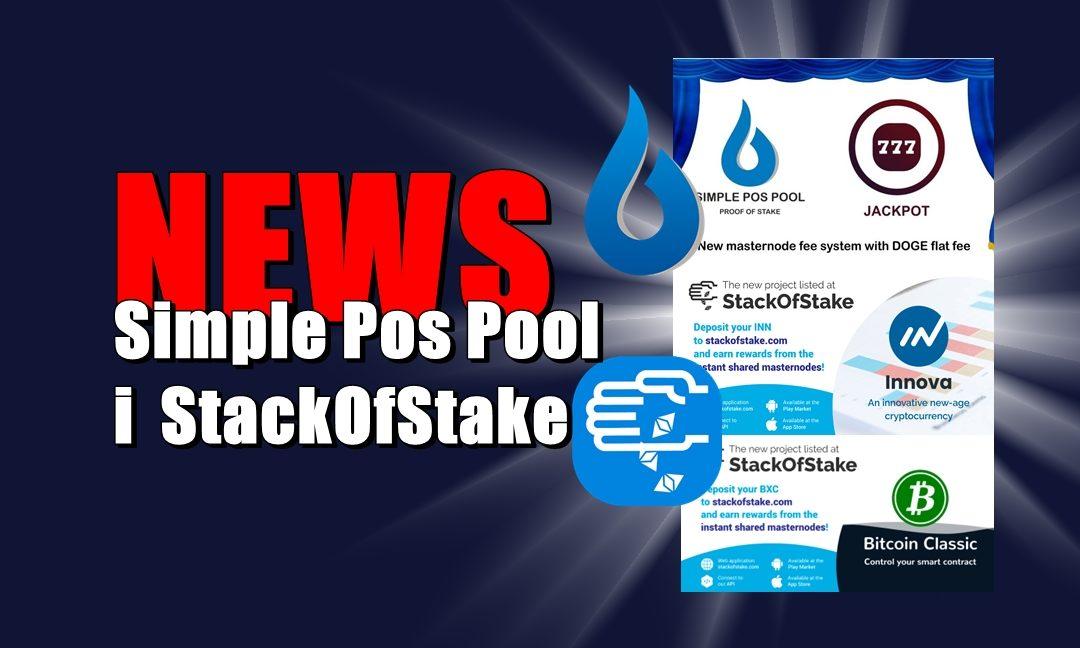 NEWS: Simple Pos Pool i  StackOfStake
