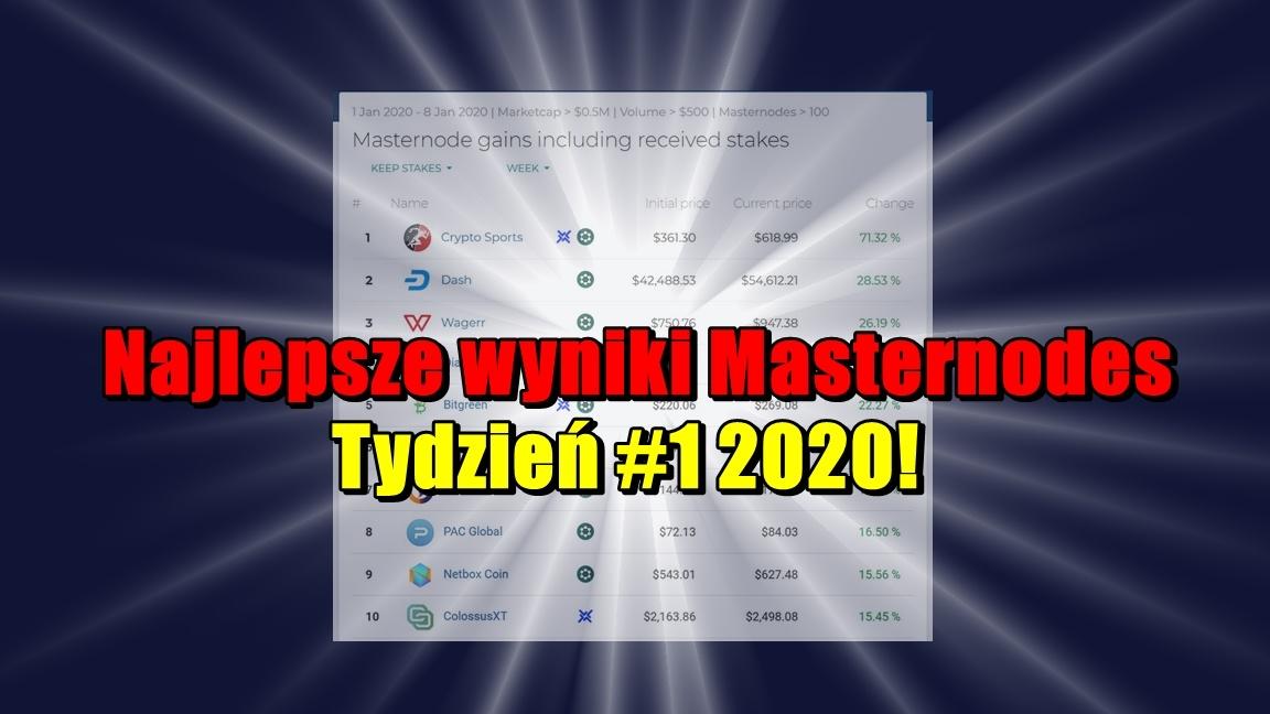 Najlepsze wyniki Masternodes Tydzień #1 2020!