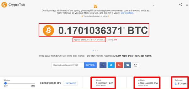 Przeglądarka CryptoTab Bitcoin wydobycie