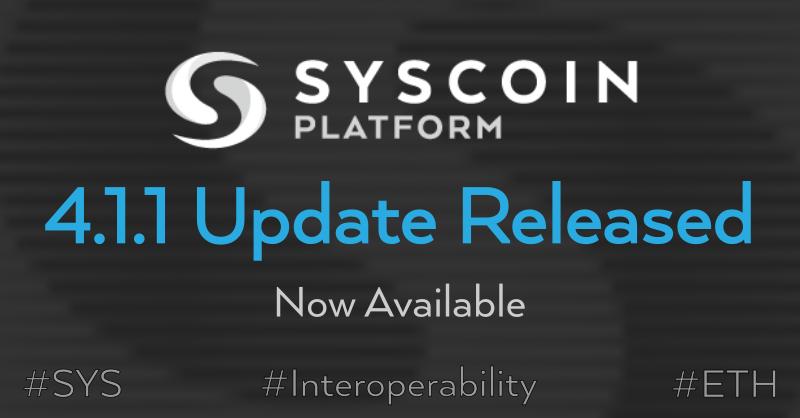 Syscoin Aktualizacja Core Syscoin 4.1.1