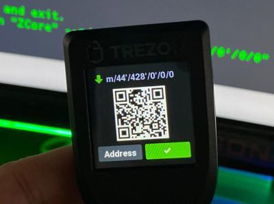 Trezor Beta 2.2.0 już pokazuje adresy ZCore