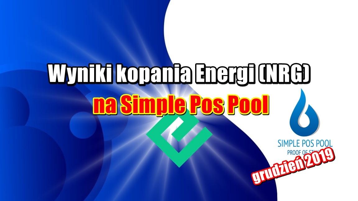Wyniki kopania Energi (NRG) na Simple Pos Pool