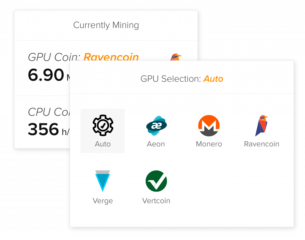 coin-selection-Cudo Miner