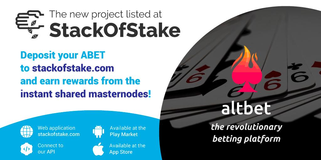 AltBet (ABET) został wymieniony na platformie StackOfStake