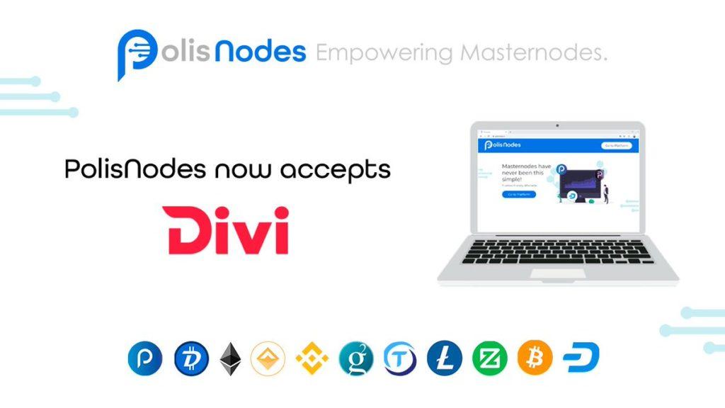 DiviProject jest akceptowany jako płatność walutową w PolisNodes