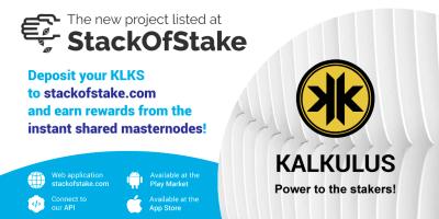 Kalkulus został wymieniony na platformie inwestycyjnej StackOfStake