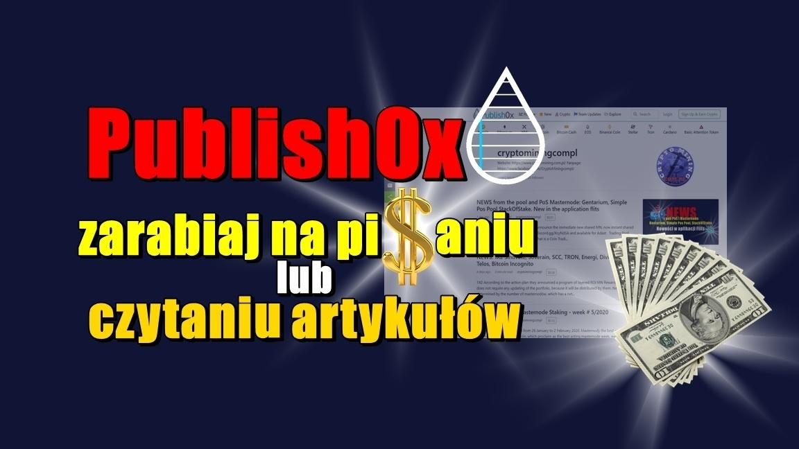 Publish0x, zarabiaj na pisaniu lub czytaniu artykułów!