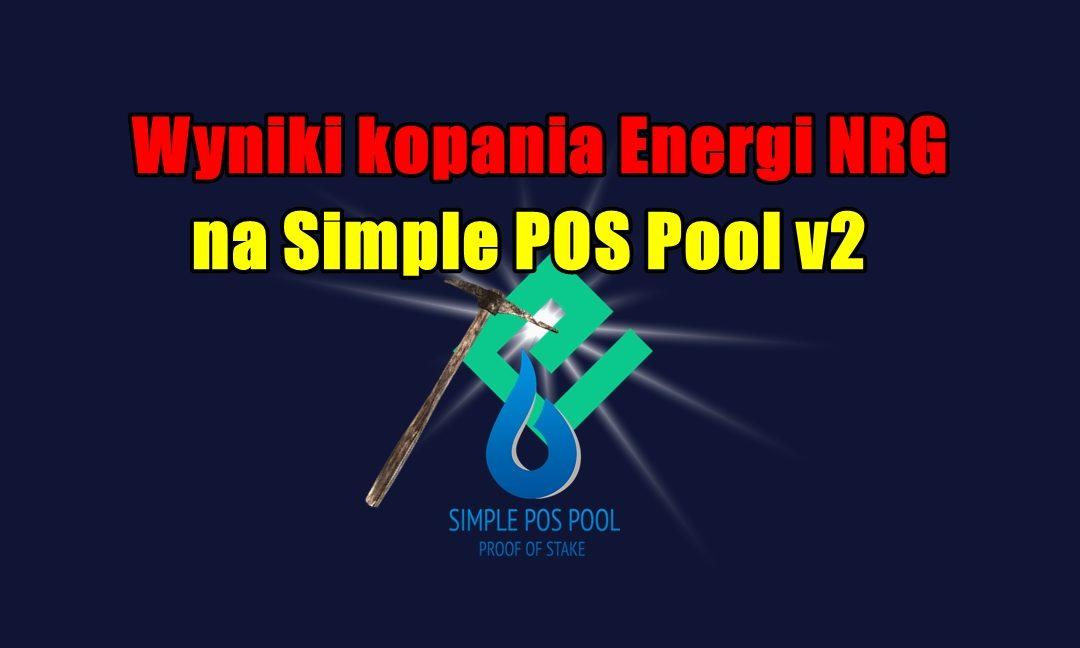 Wyniki kopania Energi NRG na Simple POS Pool v2