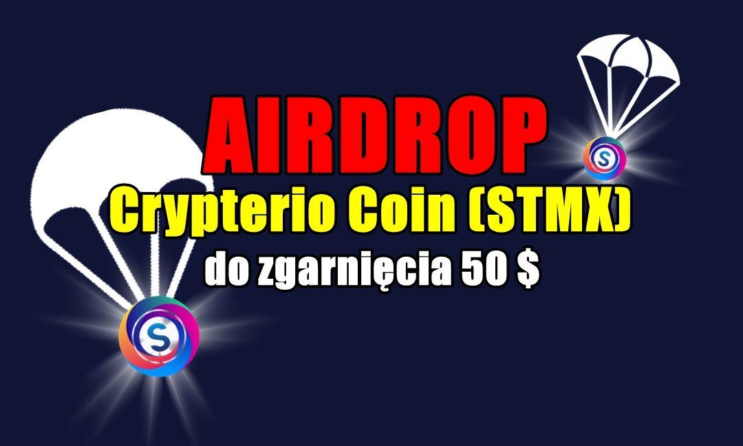 AIRDROP Crypterio Coin (STMX) – do zgarnięcia 50 $