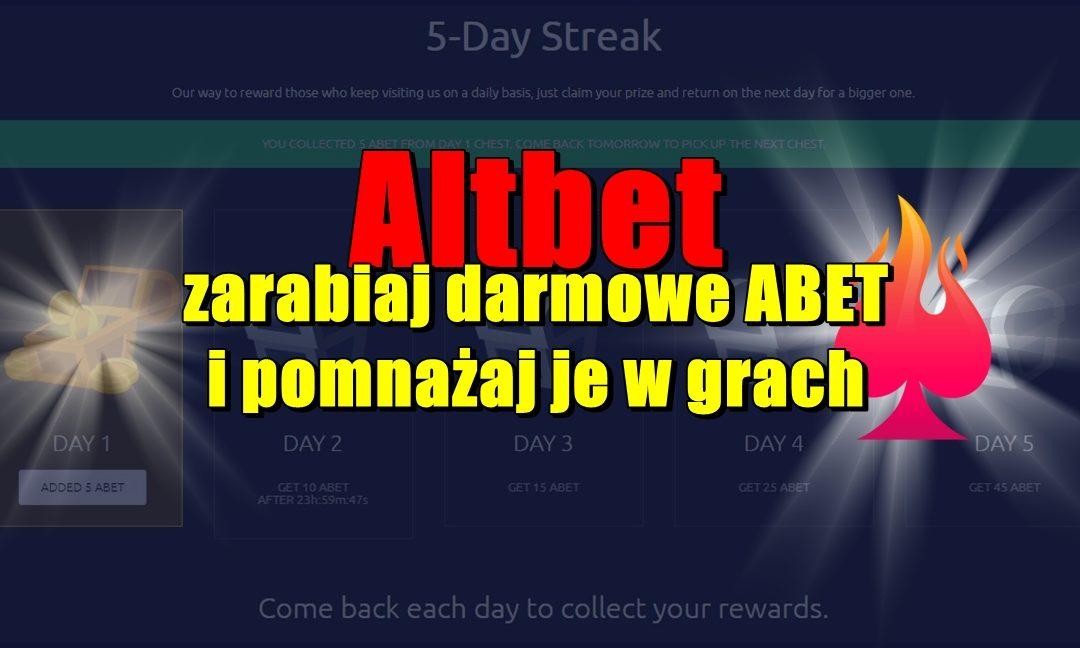 Altbet – zarabiaj darmowe ABET i pomnażaj je w grach