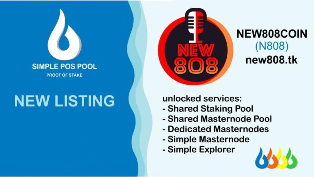 Moneta New808 została wymieniona na Simple Pos Pool! 2