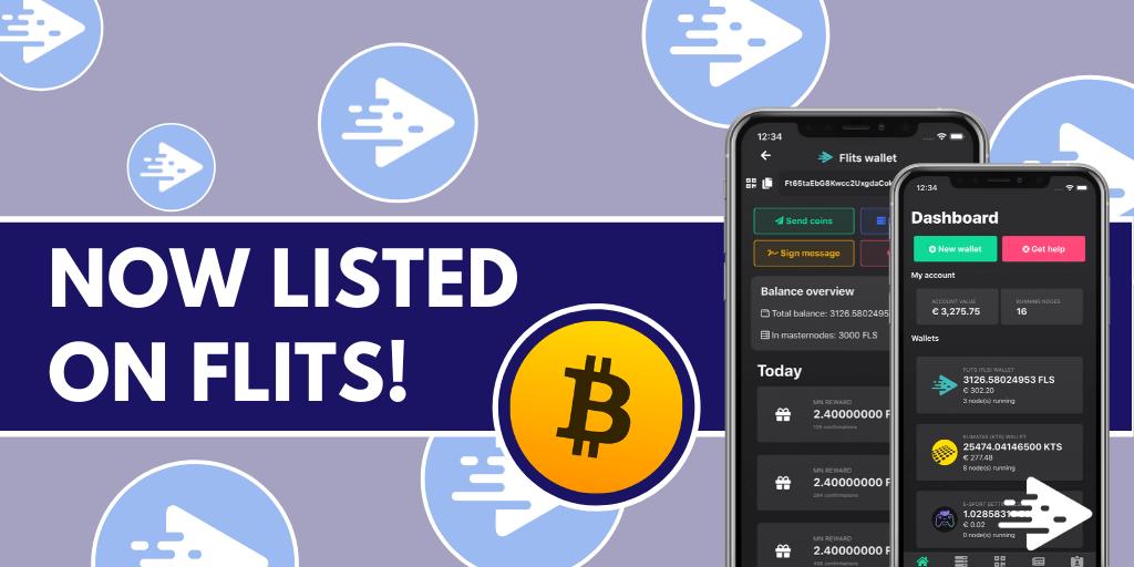Token Bitcoin (BTCT) w aplikacji Flits
