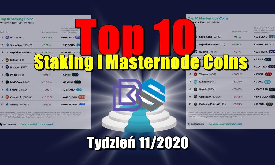 Top 10 Staking i Masternode Coins - Tydzień 11/2020
