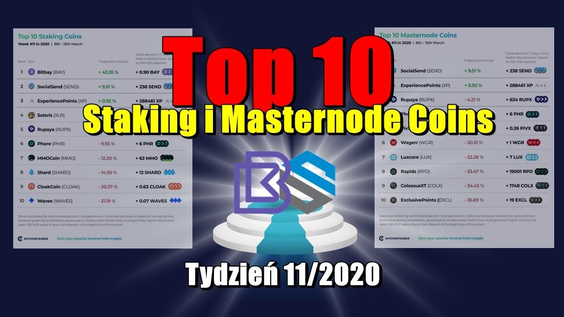 Top 10 Staking i Masternode Coins – Tydzień 11/2020
