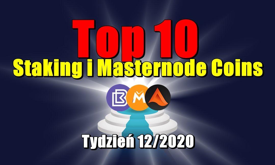 Top 10 Staking i Masternode Coins - Tydzień 12/2020