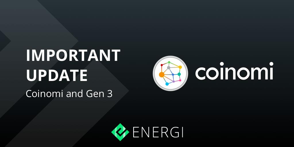 jeśli obecnie korzystasz z mobilnego portfela Coinomi w przypadku Energi Gen 3 NRG nie będzie już obsługiwany