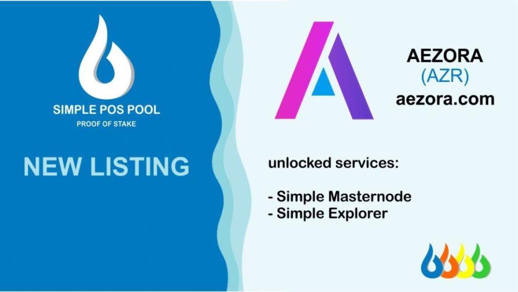 Aezora została wymieniona na Simple Pos Pool