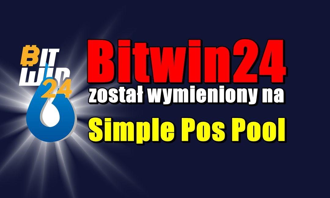 Bitwin24 został wymieniony na Simple Pos Pool 2