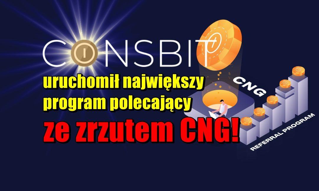 Coinsbit uruchomił największy program polecający ze zrzutem CNG! 300$ do zgarnięcia!