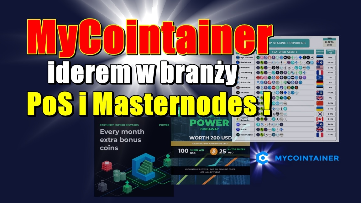 MyCointainer liderem w branży PoS i Masternodes!!!