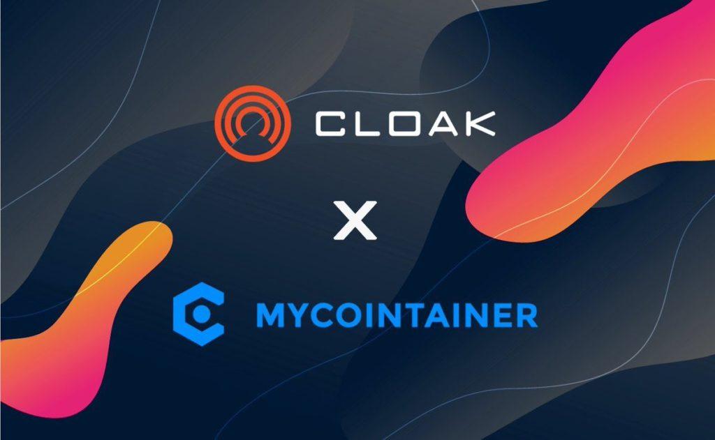 Ogłosili najnowszą współpracę MyCointainer z Cloackcoin