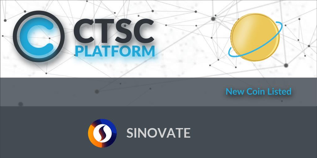 SINOVATE jest teraz wymieniony na platformie CTSC