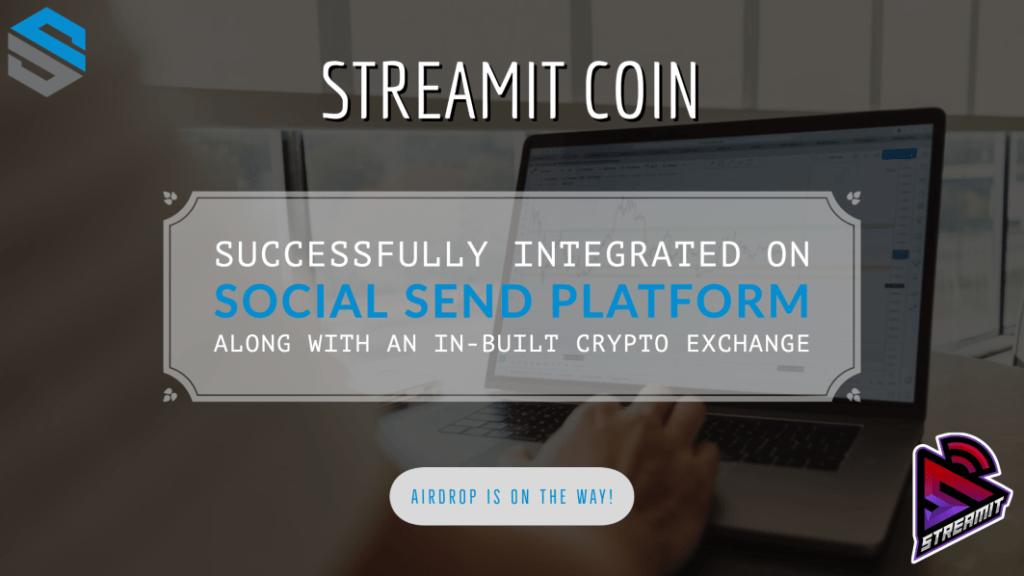 Streamit Coin został zintegrowany z platformą Social SEND